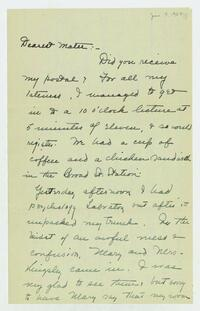 Dorothy Foster papers, Folder 7