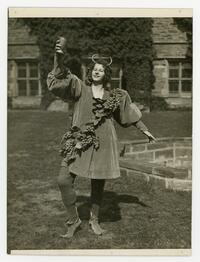 Lucy Fairbank in costume on Big May Day 1932