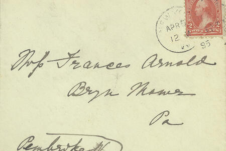 Frances Arnold Family Letters