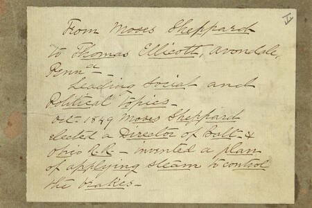 Moses Sheppard Papers