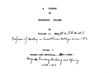 William I. Hull Papers