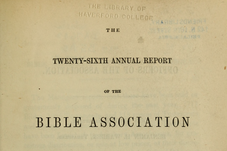 Publications of the Bible Association of Friends