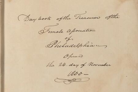 Female Association of Philadelphia for the Relief of Women and Children in Reduced Circumstances records